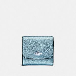 🆕 Coach metallic blue small wallet